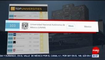 Foto: Unam Mejores Universidades Iberoamérica Mundo 18 Junio 2019