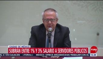 Urzúa: Aumento es para funcionarios que ganan menos de 200 mil pesos