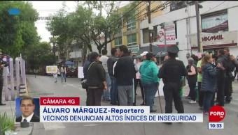 Vecinos de la alcaldía Miguel Hidalgo exigen seguridad