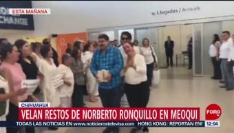Velan cenizas de Norberto Ronquillo en Meoqui, Chihuahua; preparan marcha