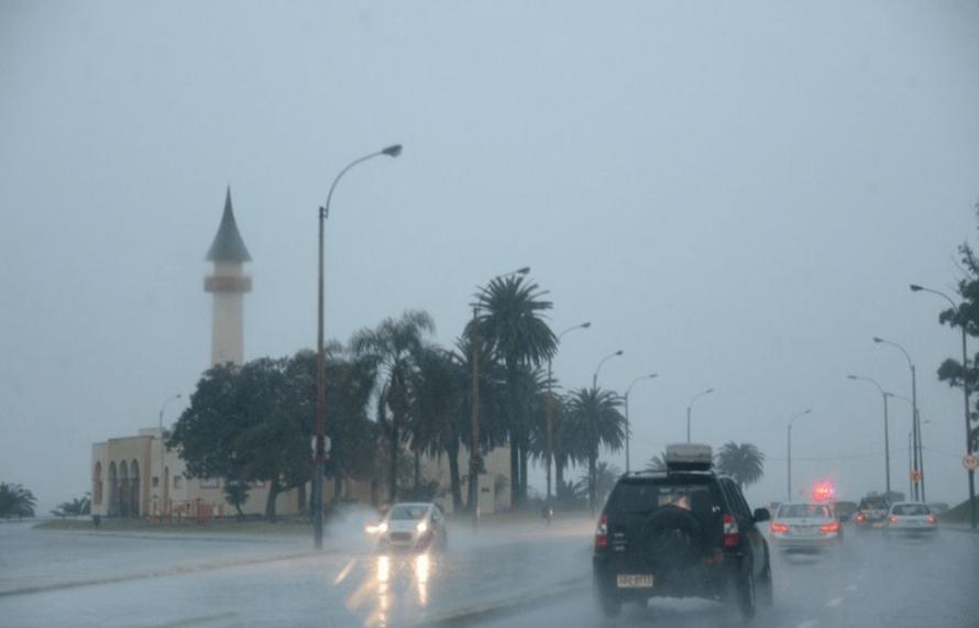 Foto: Vientos fuertes en Uruguay, 19 de junio de 2019