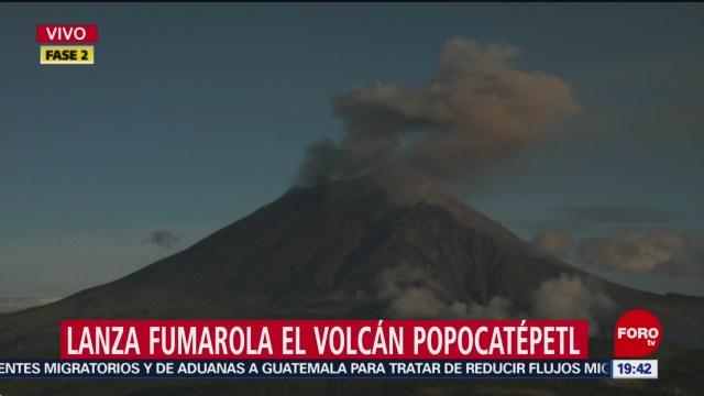 Foto: Volcán Popocatépetl Explosión 25 Junio 2019