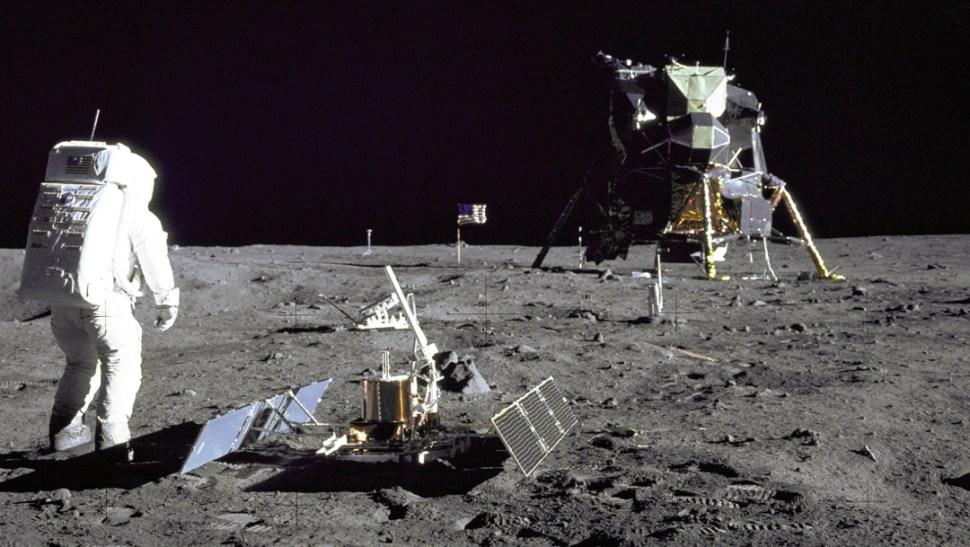 llegada del hombre a la luna Edwin Aldrin 20 julio 1969