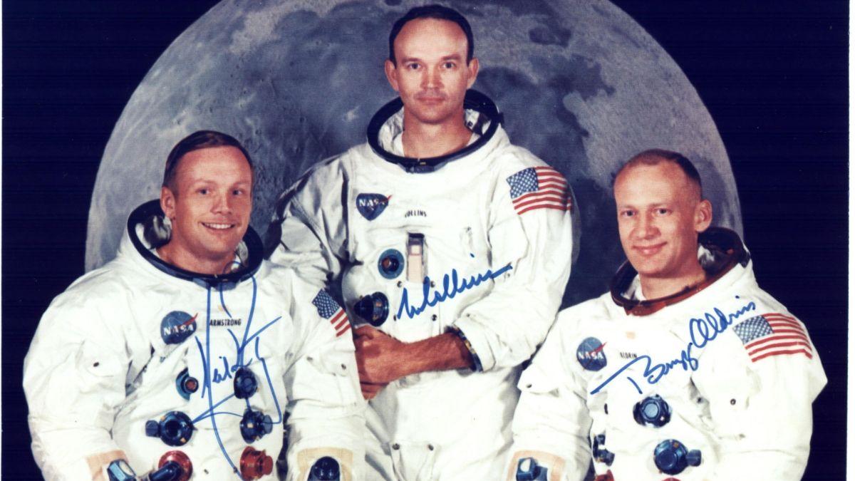 Foto: Los astronautas Neil Armstrong (i), Michael Collins (c) y Buzz Aldrin (d)