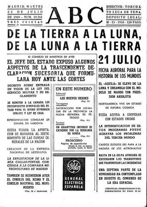 Foto Así cubrió la prensa la llegada del hombre a la Luna julio 2019