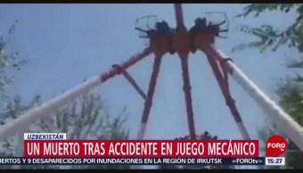 Foto: Accidente en juego mecánico deja un muerto
