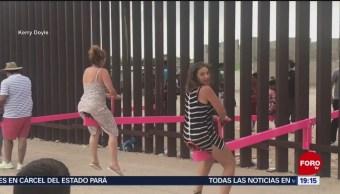 Foto: Sube Y Baja Muro Fronterizo Frontera 29 Julio 2019