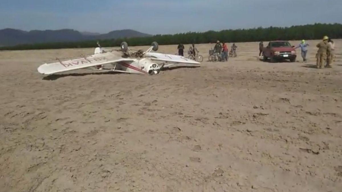 Avioneta accidentada en Coahuila,