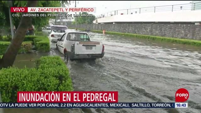 FOTO: Afectación vial en Periférico Sur por inundación