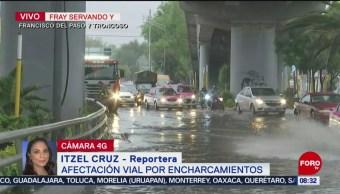 FOTO: Afectación vial por encharcamientos en CDMX, 13 Julio 2019