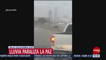 Afectaciones por lluvia en Baja California Sur