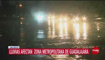 Afectaciones por lluvia en Jalisco