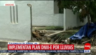 Foto: Lluvias Tlajomulco Jalisco Hoy Inundaciones 22 Julio 2019