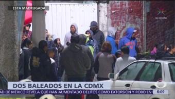 Al menos dos personas mueren baleadas en CDMX