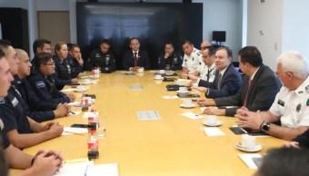Alfonso Durazo se reunió con policías federales el 18 de julio