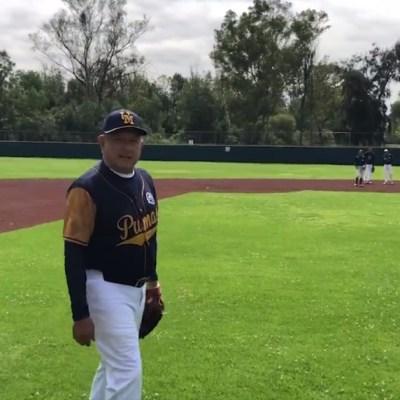 AMLO juega béisbol en medio de protestas de la Policía Federal