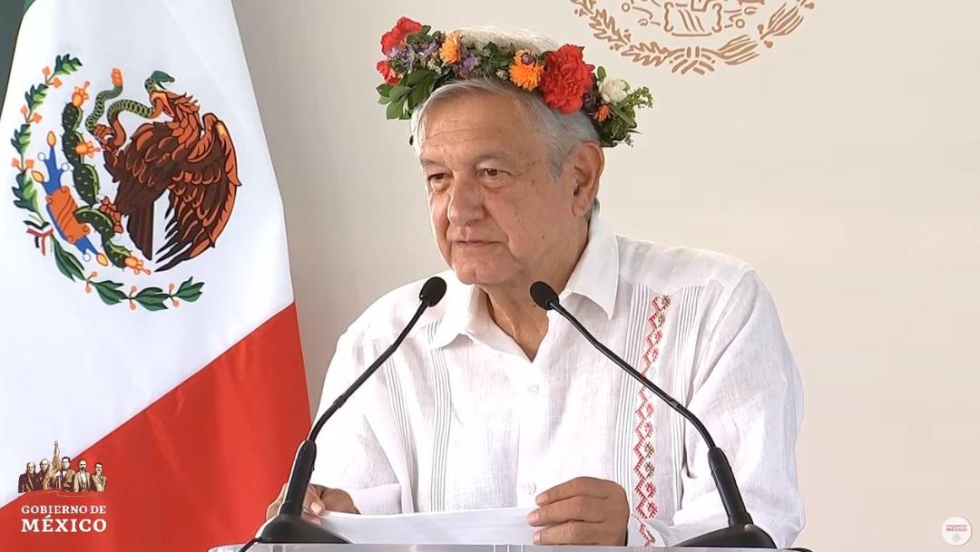 Foto: El presidente Andrés Manuel López Obrador durante una gira de trabajo en Hidalgo, el 21 de julio de 2019 (Gobierno de México)