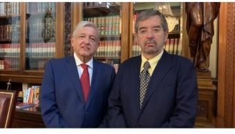 FOTO AMLO recibe a Juan Ramón de la Fuente en Palacio Nacional (YouTube)