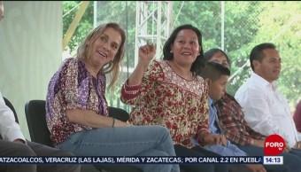 FOTO: AMLO regaña a secretaria del Bienestar durante acto, 20 Julio 2019
