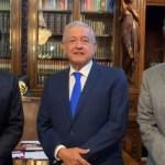 FOTO AMLO se reúne con Monreal y Delgado en Palacio Nacional (YouTube)