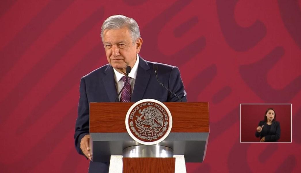 Foto: El presidente de México, Andrés Manuel López Obrador , ofrece su confrencia de prensa matutina, 19 julio 2019