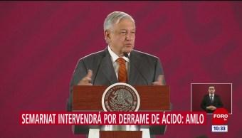 AMLO: Semarnat atenderá derrame de ácido en mar de Cortés