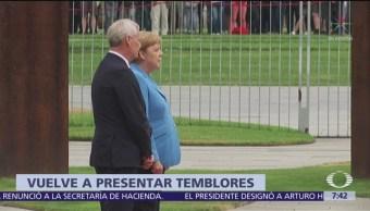 Angela Merkel vuelve a sufrir temblores durante acto en Berlín
