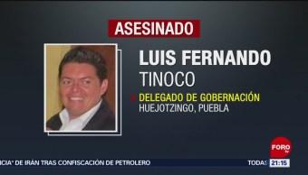 FOTO: Asesinan a delegado de Gobernación de Huejotzingo, Puebla, 21 Julio 2019