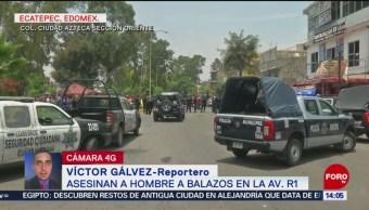 Asesinan a un hombre en Ecatepec, Edomex