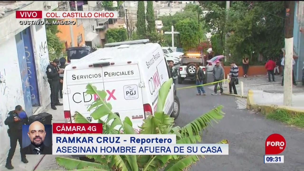 Asesinan a un hombre en la alcaldía Gustavo A. Madero