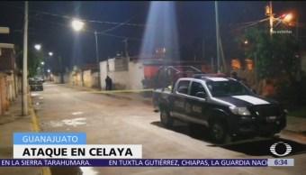 Ataque armado deja tres muertos en Celaya, Guanajuato