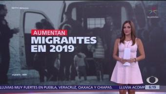 Aumenta el número de migrantes en México durante 2019