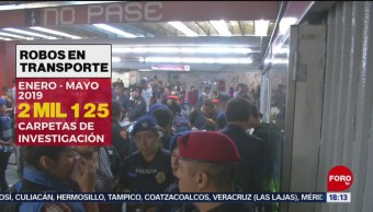 Foto: Aumentan robos en transporte público en la CDMX