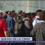 Aún no hay quejas presentadas por parte de policías federales: CNDH
