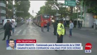 Autoridades de la CDMX dialogan con damnificados del 19S