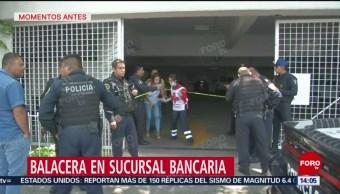 Foto: Balacera en sucursal bancaria en la alcaldía Cuauhtémoc