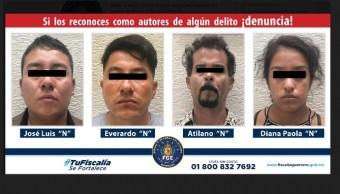 Banda de presuntos secuestradores