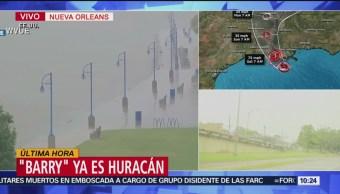 FOTO: 'Barry' ya es huracán antes de tocar tierra en Louisiana, EU, 13 Julio 2019