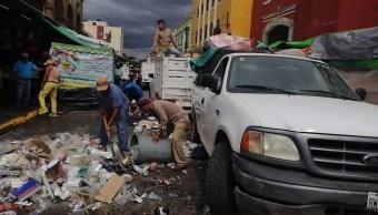 Recolección de basura en Oaxaca