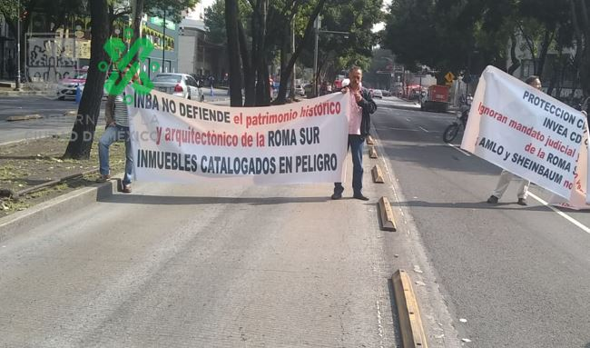 Foto Bloqueo de manifestantes en avenida Insurgentes 16 julio 2019