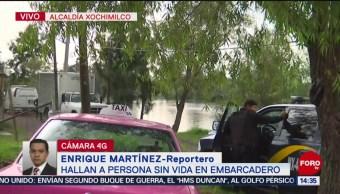 FOTO. Buscan cuerpo de una persona en embarcadero de Xochimilco