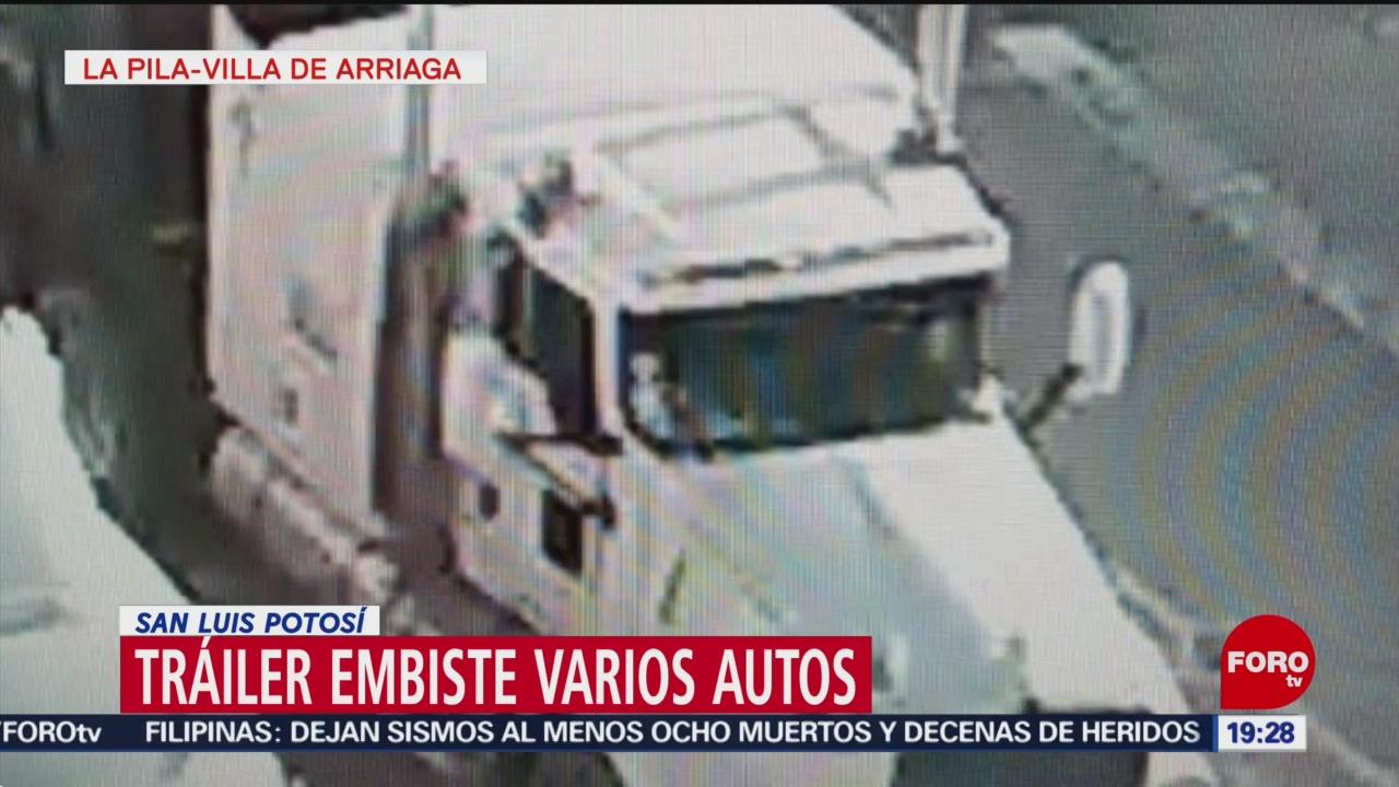 Foto: Chofer provoca persecución en San Luis Potosí al cruzar caseta a más de 100 kilómetros por hora, 27 julio 2019 (Noticieros Televisa)