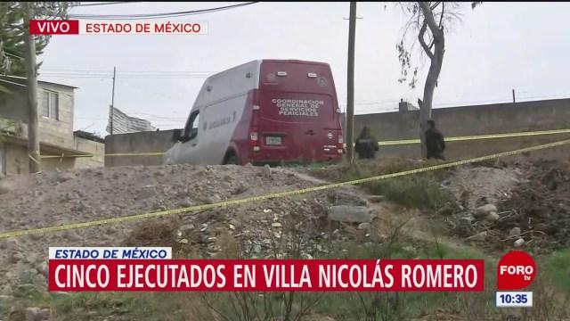 Cinco ejecutados en Villa Nicolás Romero, Estado de México