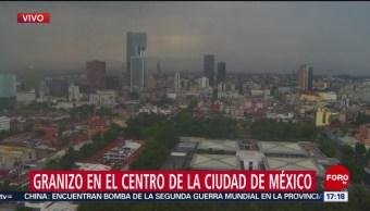 Comienza a llover en la Ciudad de México