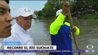 Comisionado del INM recorre la frontera sur de México