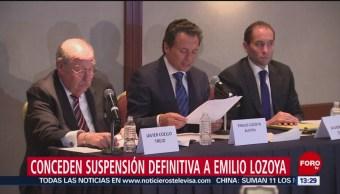 Conceden suspensión definitiva a Emilio Lozoya