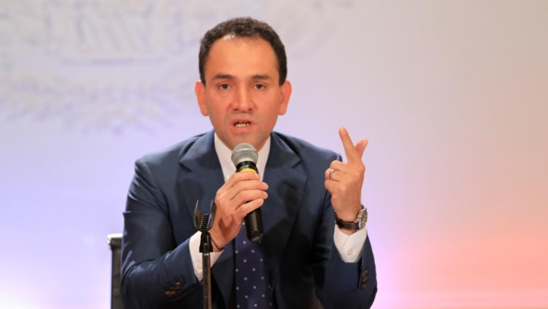 Foto: Arturo Herrera, el nuevo secretario de Hacienda, asiste a una conferencia de prensa en la Ciudad de México, julio 9 de 2019 (Reuters)