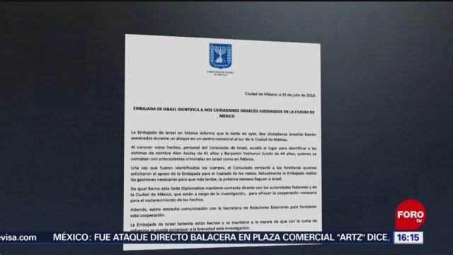 Foto: Antecedentes Criminales Israelíes Plaza Artz Pedregal 25 Julio 2019