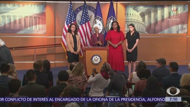 Congresistas demócratas acusan a Trump tras comentarios racistas