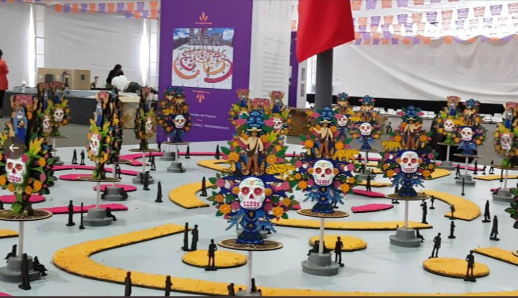 Foto: El próximo Día de Muertos será instalada una ofrenda monumental en el Zócalo de la Ciudad de México, 13 de julio del 2019 (Twitter @CulturaCiudadMx)